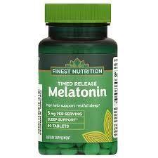 finest nutrition melatonin 5mg timed