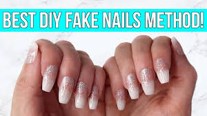 diy fake nails at home no acrylic