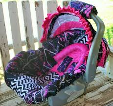 hot pink minky infant car seat cover