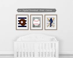 kids vintage baseball wall prints