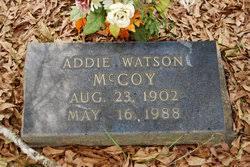 Addie Watson McCoy (1902-1988) - Find A Grave Memorial
