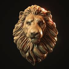Lion Head Pendant 3d print model head ...
