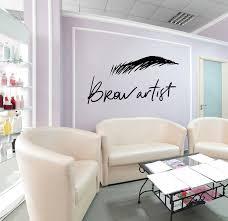 Vinyl Wall Decal Brow Beauty Salon Wrinkle Eye Eyebrow Artist Logo Sti Wallstickers4you
