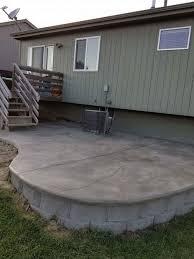 concrete coating stairs entrances