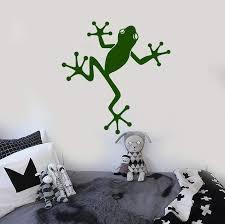 Vinyl Wall Decal Frog Kids Room Decoration Nursery Stickers Murals Uni Wallstickers4you