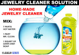 homemade jewelry cleaner solution