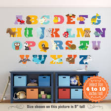 Abc Animal Decals Alphabet Letters Abc Wall Decor Abc Wall Wall Decals