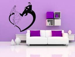 Wall Sticker Room Decal Wedding Couple Love Romance Bride Groom Marriage Bo2546 Ebay