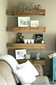 wall shelf decorating ideas living room