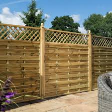 Halkin Pressure Treated Wooden Fence Panel With Trellis Buy Halkin Pressure Treated Wooden Fence Panel With Trellis Online Garden Gates Direct
