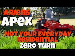 ariens apex zero turn mower review