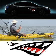 2 Pcs Graffiti Stickers Shark Teeth Mouth Vinyl Decal Stickers For Kayak Canoe Dinghy Boat Cool Motorcycle Skateboard Luggage Wall Stickers Aliexpress