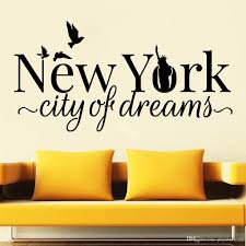 Ny Vinyl Wall Decal For Living Room New York Dreams Statue Of Liberty Birds Wall Stickers For Kitchen Bedroom Decoration Decorative Stickers For Wall Decorative Stickers For Walls From Joystickers 10 85 Dhgate Com