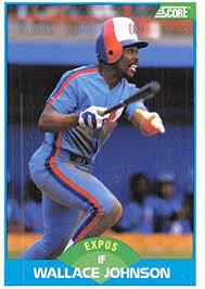 Amazon.com: Baseball MLB 1989 Score #196 Wallace Johnson Expos:  Collectibles & Fine Art
