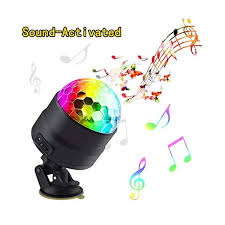Disco Ball Party Lights Portable Rotating Lights Sound Activated Led Strobe Light 7 Color With Remote And Usb Plug In Blinkee Com