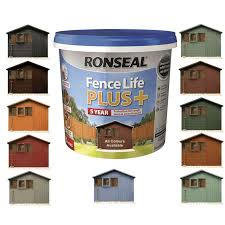 Ronseal 5l Fence Life Plus Garden Shed Fence Paint Exterior Painting Decorating From Build Plumb Materials Online Uk