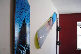vertical snowboard wall hanger display