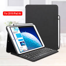 For iPad Air 3 Case Keyboard with Pencil Holder Smart Bluetooth Wireless  Leather Silicon Folio For iPad Pro 10.5 Air 2019 Cover|
