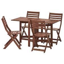 ÄpplarÖ table 4 folding chairs outdoor