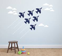 Jet Airplane Wall Decal Military Jet Planes Fighter Jet Etsy Airplane Wall Airplanes Wall Decals Kids Room Wall Decals