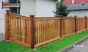 Capped Rail Wood Picket Fences Minneapolis St Paul Midwest Fence Wood Picket Fence Wood Fence Design Fence Design
