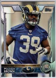 2015 Topps #441 Malcolm Brown RC Rams ...