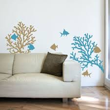 Coral Reef Fish Wall Decals Graphic Stickers Beach Wall Decals Nursery Wall Painting Wall Decals