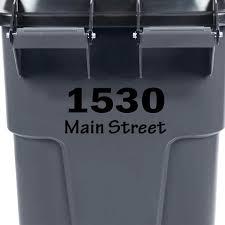 Vwaq Custom Trash Bin Decal Please Return To Garbage Can Personalized