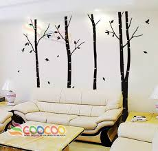 Large White Tree Wall Sticker Removable Vinyl Wall Art Decor For Kids Baby Nurs For Sale Online Ebay