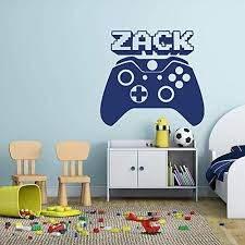 Video Gamer Custom Name Vinyl Wall Decal Sticker With Xbox One Controller Custom Vinyl Video Gamer Wall Decal Sticker Vinyl Wall Decals Wall Decals
