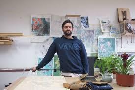 Meet Adrian Holmes   Woodblock Artist   Mount Haven Restaurant