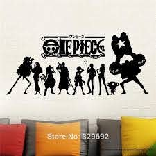 One Piece Japanese Anime Wall Decal Vinyl Wall Stick Wall Stickers Aliexpress
