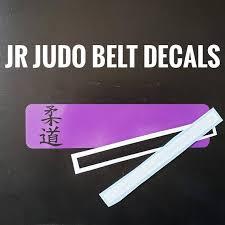 Jr Judo Ranked Belt Car Decal Sticker Etsy