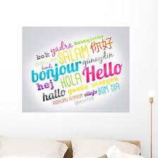 Bonjour Hello Wall Decal Wallmonkeys Com