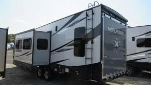 toy hauler with rear patio