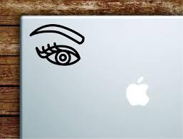 Eye Eyebrow V2 Eyelash Laptop Wall Decal Sticker Vinyl Art Quote Macbo Boop Decals