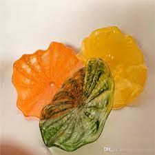 glass plates fashion murano glass wall
