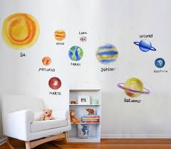 Space Wall Decals Solar System Decor Solar System Planet Etsy