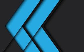 تحميل خلفيات الزرقاء مجردة خلفية سوداء خلفية هندسية تصميم المواد