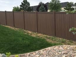 6 Tall Dark Walnut Vinyl Privacy Fence