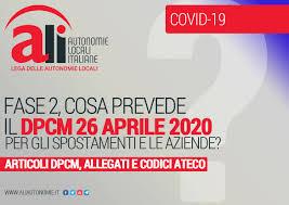 DPCM 26 APRILE 2020: COSA PREVEDE IL DECRETO PER SPOSTAMENTI E ...
