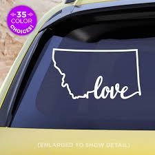 Amazon Com Montana State Love Decal Mt Love Car Vinyl Sticker Add A Heart Over Billings Missoula Great Falls Bozeman Helena Handmade