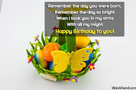 remember the day you were born birthday quote for son