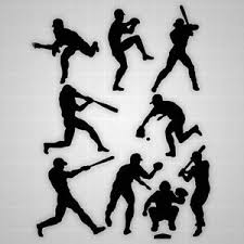 Baseball Players Wall Silhouettes Boys Baseball Players Decals Boys Room Decor Ebay