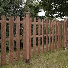 3ft X 6ft Pressure Treated Round Top Picket Fence Panel Waltons
