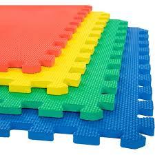 Foam Mat Floor Tiles Interlocking Eva Foam Padding By Stalwart Soft Flooring For Exercising Yoga Camping Kids Babies Playroom 4 Pack Walmart Com Walmart Com