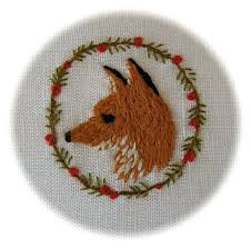 Amazing tiny Fox embroidery! | Fox embroidery, Embroidery inspiration,  Embroidery art