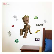 Decalcomania Marvel Groot Augmented Reality Wall Decal Walmart Com Walmart Com