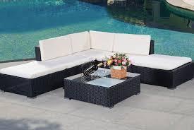 6pc rattan outdoor patio set