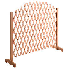 Costway Expanding Portable Fence Wooden Screen Dog Gate Pet Safety Kid Patio Garden Lawn Walmart Com Walmart Com
